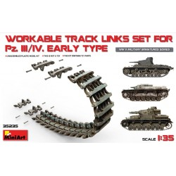 WORKABLE TRACK LINKS SET FOR PZ. III/IV EARLY 1/35