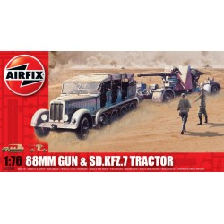 88MM GUN AND TRACTOR 1/76