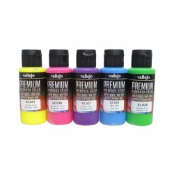 Basisset premium fluor colors 5x60ml.