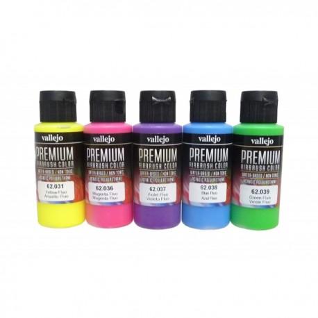 Basisset premium fluor colors 5x60ml.