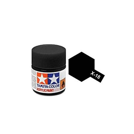 acrylverf X-18 semigloss zwart