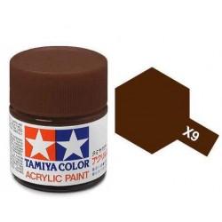 Potje acrylverf X-9 brown 23cc