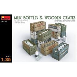 MILK BOTTLES & WOODEN CRATES 1/35