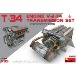 T-34 ENGINE (V-2-34) & TRANSMISSION SET 1/35