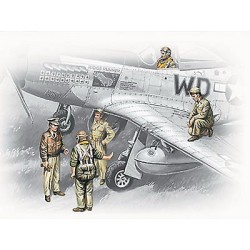 USAAF PILOTS AND GROUND PERSONNEL 41-45 1/35