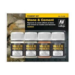 Pigment set Stone & Cement 4x35ml.