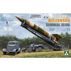 WWII German V-2 Rocket Transporter/Erect Meillerwagen+Hanomag SS100 1/35