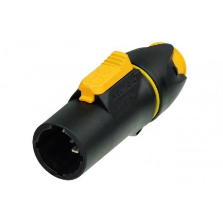 Powercon geel plug