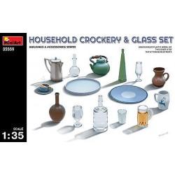 HOUSEHOLD CROCKERY & GLASS SET 1/35