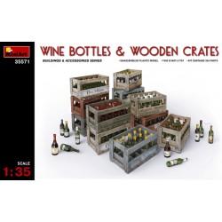 WINE BOTTLES & WOODEN CRATES 1/35