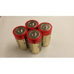 """4x """"D"""" cell alkaline batterij"""