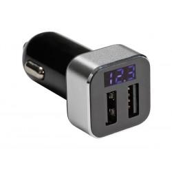 autolader 12/24v USB 10W met uitlezing Volt-Ampere