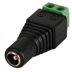 DC schroefplug 2.5 5.5mm female