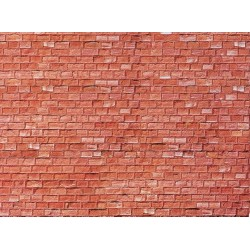 1:87 muurplaat zandsteen rood 250x125mm