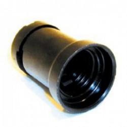 Prikfitting E27 zwart max 40W