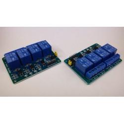 relaiskaart 4x om voeding 12V 10A wisselkontakten