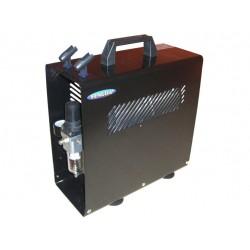 airbrush compressor + opslagtank + beschermingsbak