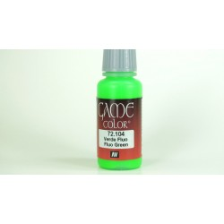 Game color fluor green 17ml.