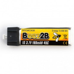 1S Lipo accu 3.7V 180mAh 45c (mCX. mSR. Minium etc…)