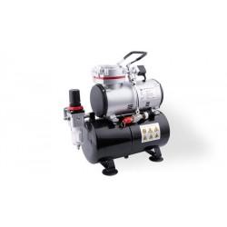Airbrush compressor + luchttank
