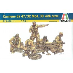 CANNONE DA 47/32 MOD. 39 WITH CREW 1/35