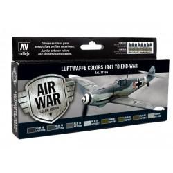 Model Air set Luftwaffe colors 1941 to end-war 8st.