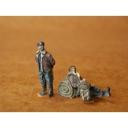 RAF PILOTS AT REST WWII 1/48