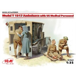 MODEL T 1917 AMBULANCE WITH MEDIC 1/35