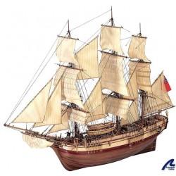 Houten scheepsmodel H.m.s. Bounty 1783 1/48