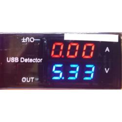 USB poort tester/meter 3-9V 0-3Amp