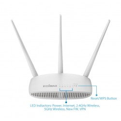 2.4/5.8 gHz WiFi router