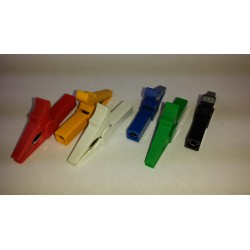 6 gekleurde krokodilklemmen voor meetsnoeren (4mm)