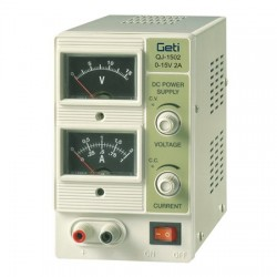 Lab voeding 0-15V 0-2A Analoge meters