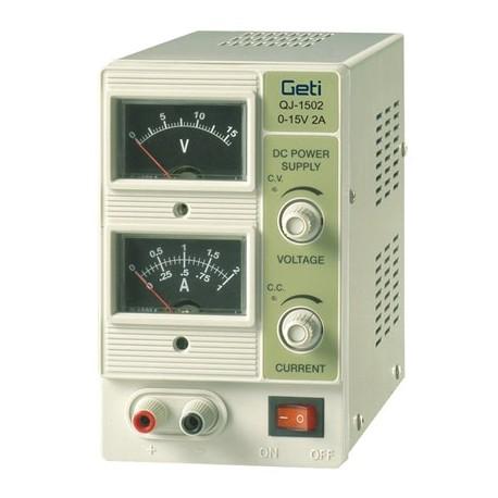 Lab voeding 0-15V 0-2A Analoge meters