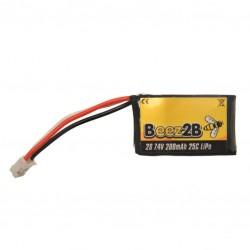 LC 200mAh 2S 7,4V 25c Lipo accu 12x20.5x35mm