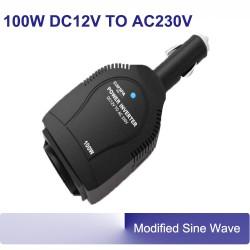 Omvormer 12V  230V (100W) +USB mod sinus