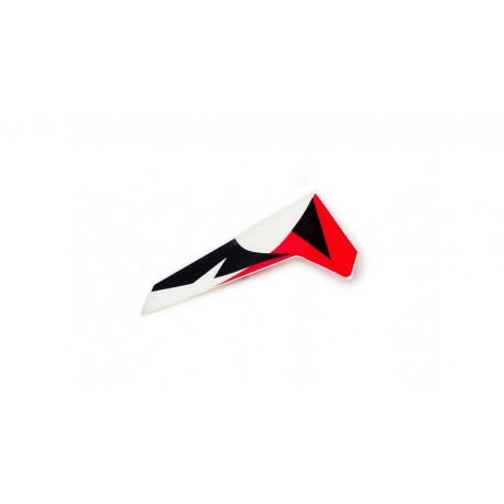 vertical fin, red-white MSR X