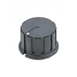 Knop 20mm  zwart 6,3mm as