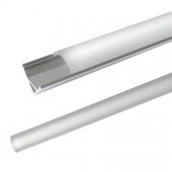 """Blank geanodiseerd LEDstrip profiel """"hoek"""" 200cm"""