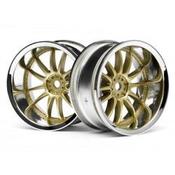 XSA 1/10 velg 26mm goudchrome 9mm offset 2st.