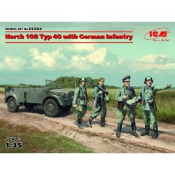 HORCH 108 TYP 40 WITH GERMAN INFANTRY 1/35