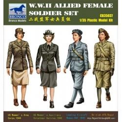 WWII VROUWELIJKE SOLDATEN 1/35