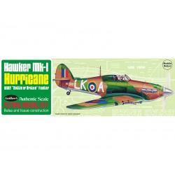 Guillows houten vliegtuig hawker MK-1 hurricane 42cm.