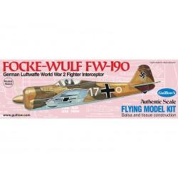 Guillows houten vliegtuig Focke-wulf FW-190 42cm