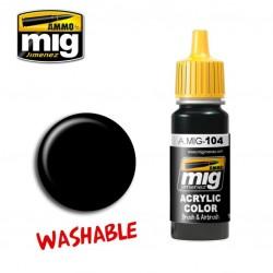 Mig Washable Black A.MIG-104 17ml.
