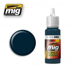 Mig Crystal Black Blue A.MIG-099 17ml.