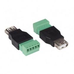schroefbare USB A fem plug