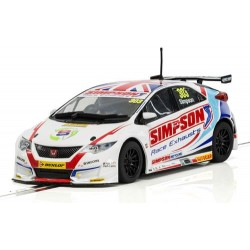 Slotrace auto Honda civic Type R BTCC 1/32