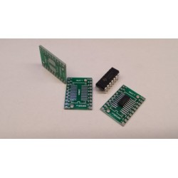 SMD  DIL verloopprintje 2x10pins 20x25mm