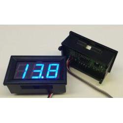 Digitale volt (accu) meter 6-12-24V blauw display